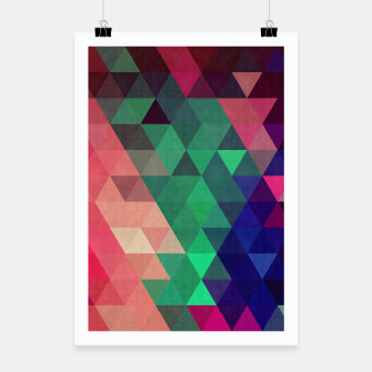 Miniaturka Colorful and geometric pattern Poster, Live Heroes