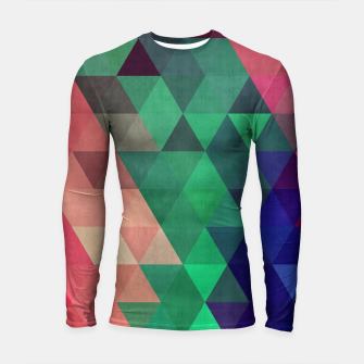 Thumbnail image of Colorful and geometric pattern Longsleeve Rashguard , Live Heroes