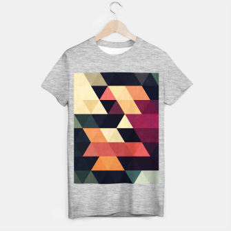 Imagen en miniatura de Colorful and geometric pattern T-shirt regular, Live Heroes