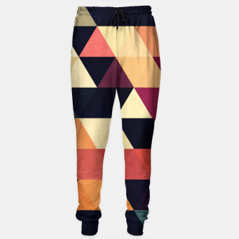 Thumbnail image of Colorful and geometric pattern Sweatpants, Live Heroes