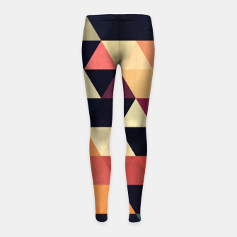 Thumbnail image of Colorful and geometric pattern Girl's Leggings, Live Heroes