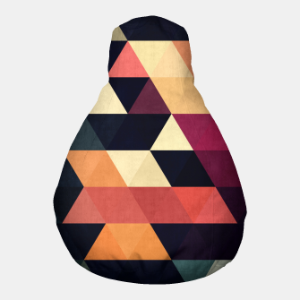 Thumbnail image of Colorful and geometric pattern Pouf, Live Heroes
