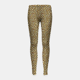 Thumbnail image of Gold pattern Girl's Leggings, Live Heroes