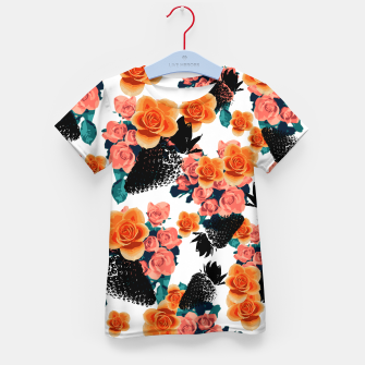 Thumbnail image of STRAWBERRIES & FLOWERS Kid's T-shirt, Live Heroes