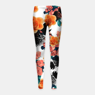 Thumbnail image of STRAWBERRIES & FLOWERS Girl's Leggings, Live Heroes