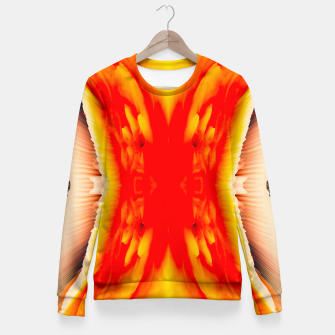 Miniaturka Abstract Orange Eruption Taillierte Sweatshirt, Live Heroes