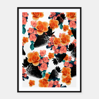 Thumbnail image of STRAWBERRIES & FLOWERS Framed poster, Live Heroes