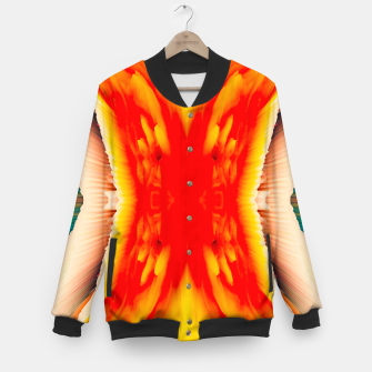Thumbnail image of Abstract Orange Eruption College-Jacke, Live Heroes