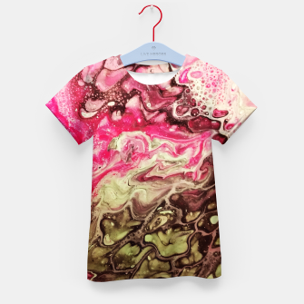 Thumbnail image of Pink green Kid's T-shirt, Live Heroes
