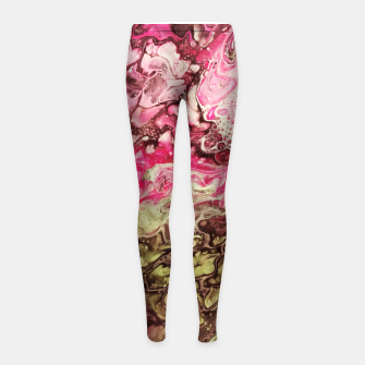 Thumbnail image of Pink green Girl's Leggings, Live Heroes