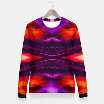 Miniaturka Abstract Purple Eruption Taillierte Sweatshirt, Live Heroes