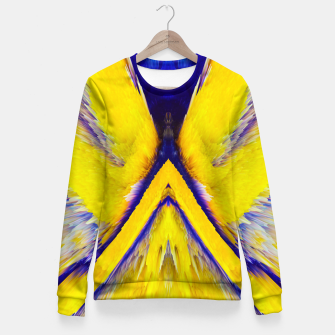 Miniaturka Abstract Yellow Eruption Taillierte Sweatshirt, Live Heroes