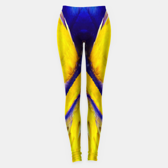Imagen en miniatura de Abstract Yellow Eruption Leggings, Live Heroes