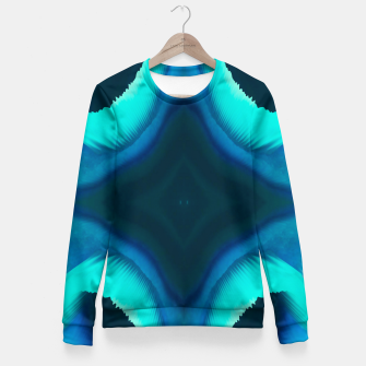 Miniaturka Abstract Blue Eruption Taillierte Sweatshirt, Live Heroes