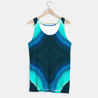 Thumbnail image of Abstract Blue Eruption Muskelshirt , Live Heroes