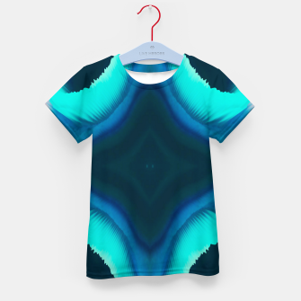 Thumbnail image of Abstract Blue Eruption T-Shirt für Kinder, Live Heroes