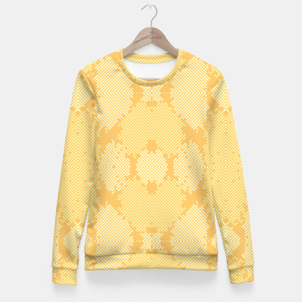 Miniaturka Yellow Abstract Pattern Taillierte Sweatshirt, Live Heroes