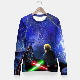 Thumbnail image of star wars last jedi Fitted Waist Sweater, Live Heroes