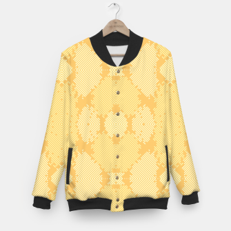 Thumbnail image of Yellow Abstract Pattern College-Jacke, Live Heroes