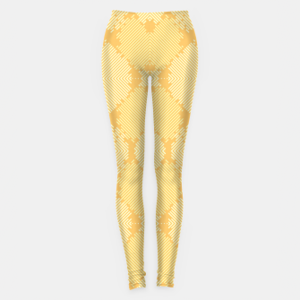 Imagen en miniatura de Yellow Abstract Pattern Leggings, Live Heroes