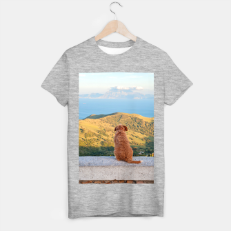 Imagen en miniatura de Lonely dog watching on Gibraltar strait T-shirt regular, Live Heroes