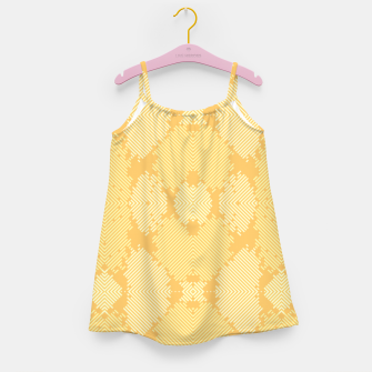 Thumbnail image of Yellow Abstract Pattern Mädchenkleid, Live Heroes