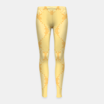 Thumbnail image of Yellow Abstract Pattern Kinder-Leggins, Live Heroes