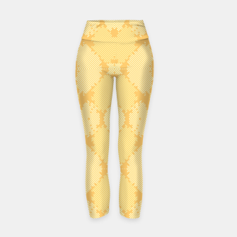 Thumbnail image of Yellow Abstract Pattern Yogahose, Live Heroes