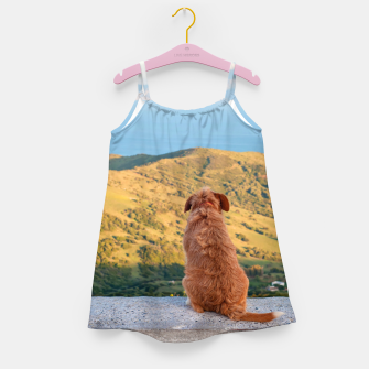 Miniaturka Lonely dog watching on Gibraltar strait Girl's Dress, Live Heroes