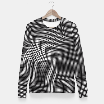Miniaturka Abstract Op-Art Design Taillierte Sweatshirt, Live Heroes