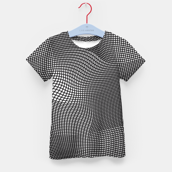 Thumbnail image of Abstract Op-Art Design T-Shirt für Kinder, Live Heroes
