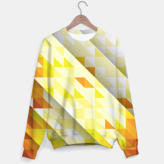 Thumbnail image of Yellow Abstract Triangle Pattern Sweatshirt, Live Heroes