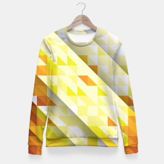 Miniaturka Yellow Abstract Triangle Pattern Taillierte Sweatshirt, Live Heroes
