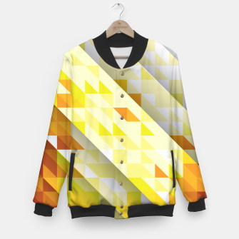 Thumbnail image of Yellow Abstract Triangle Pattern College-Jacke, Live Heroes