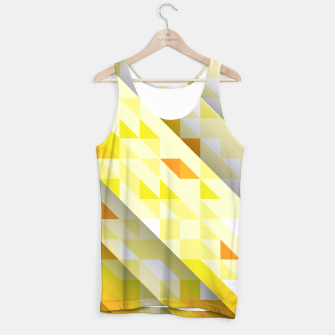 Thumbnail image of Yellow Abstract Triangle Pattern Muskelshirt , Live Heroes