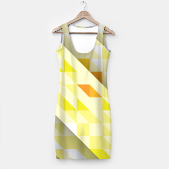 Miniaturka Yellow Abstract Triangle Pattern Kleid, Live Heroes