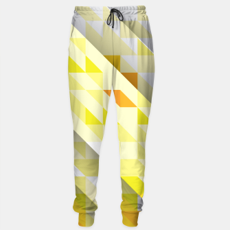 Thumbnail image of Yellow Abstract Triangle Pattern Trainingshose, Live Heroes