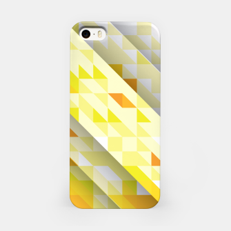 Miniaturka Yellow Abstract Triangle Pattern iPhone-Hülle, Live Heroes