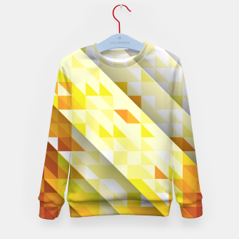 Miniaturka Yellow Abstract Triangle Pattern Kindersweatshirt, Live Heroes