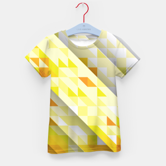 Thumbnail image of Yellow Abstract Triangle Pattern T-Shirt für Kinder, Live Heroes