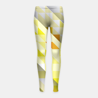 Thumbnail image of Yellow Abstract Triangle Pattern Kinder-Leggins, Live Heroes