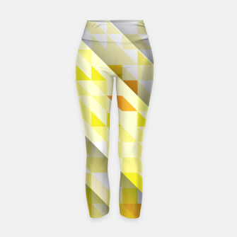 Thumbnail image of Yellow Abstract Triangle Pattern Yogahose, Live Heroes