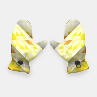 Thumbnail image of Yellow Abstract Triangle Pattern Handschuhe, Live Heroes