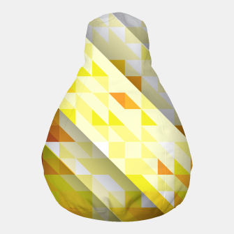 Thumbnail image of Yellow Abstract Triangle Pattern Puff, Live Heroes