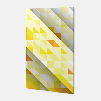 Miniaturka Yellow Abstract Triangle Pattern Canvas, Live Heroes