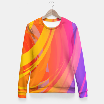 Miniaturka Abstract Colorful Pattern Taillierte Sweatshirt, Live Heroes
