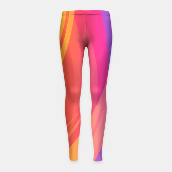 Thumbnail image of Abstract Colorful Pattern Kinder-Leggins, Live Heroes