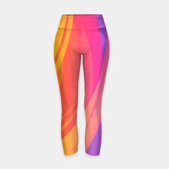 Thumbnail image of Abstract Colorful Pattern Yogahose, Live Heroes