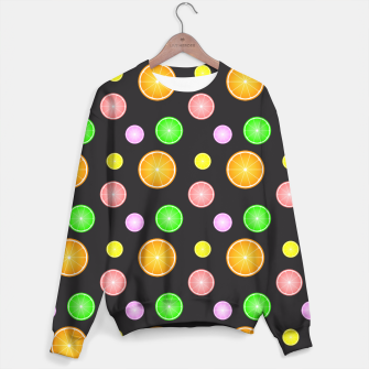 Thumbnail image of Orange, lemon, lime and grapefruit summer party pattern Sweater, Live Heroes