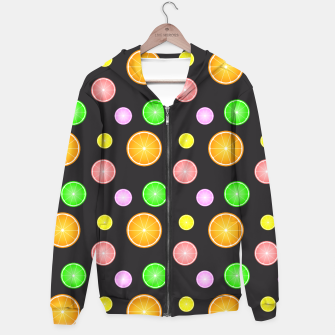 Miniaturka Orange, lemon, lime and grapefruit summer party pattern Hoodie, Live Heroes